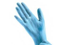 Перчатки виниловые L голубые SunViv