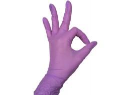 Перчатки  нитриловые S 1 пара фиолетовые Nitrille