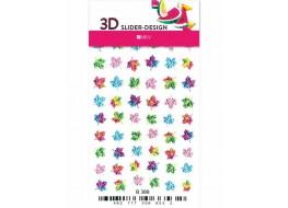Наклейки на ногти Слайдер Дизайн 3D В388