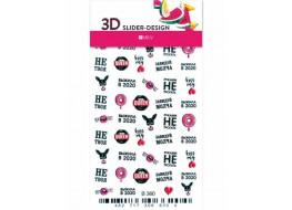 Наклейки на ногти Слайдер Дизайн 3D В365