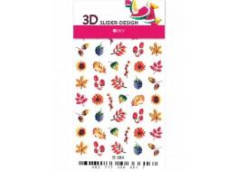 Наклейки на ногти Слайдер Дизайн 3D В384