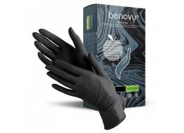 Перчатки  нитриловые XL 100 шт черные BENOVY