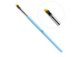 Кисть для градиента и амбре голубая ручка скошенная