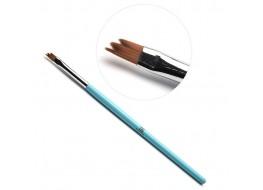 TNL Кисть для дизайна Трезубец А 905258 (голубая)