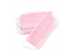Маска трехслойная на резинках Розовая ARCHDALE