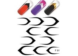 Слайдер для ногтей F 91 чёрный