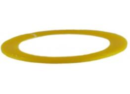 Лента фольгированная №12 желтая матовая