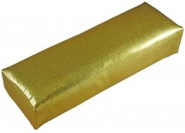Подлокотник для рук кожаный золотистый
