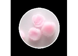 Силиконовые розы маленькие розовые