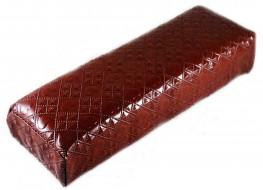 Валик под руку коричневый сердечки/квадратики