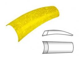 Типсы желтые яркие матовые