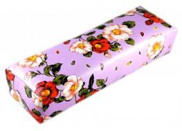 Валик под руку сиреневый с цветами