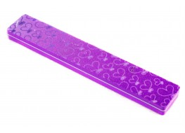 Полировщик для ногтей фиолетовый широкий 100/180