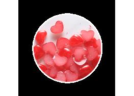 Жемчуг для дизайна сердечко красный