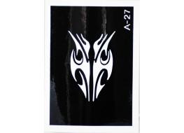 Трафарет для нанесения временной татуировки А27