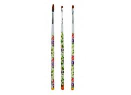 Набор кистей для дизайна с цветной ручкой