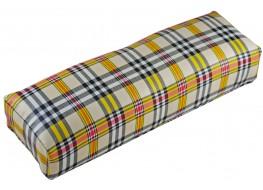 Подлокотник для рук кожаный шотланская клетка жёлтая