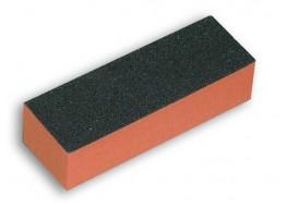 Баф для полировки ногтей чёрно-оранжевый 60 грит