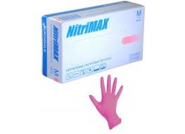 Перчатки  нитриловые L розовые Nitri Max