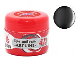 Гель 4D №24 черная жемчужина