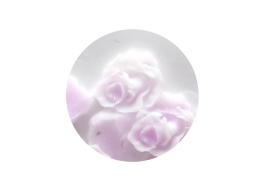 Силиконовые розы средние бело-сиреневые