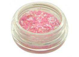 Блестки- соломка №10 светло-розовые голографические
