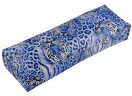Подлокотник для рук кожаный голубой тигр