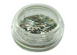 Блестки- соломка №2 серебро голографические