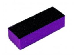 Баф для полировки ногтей чёрно-фиолетовый 60 грит