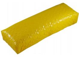 Подлокотник для рук кожаный глянцевое сердце жёлтое