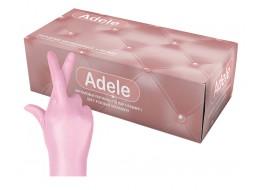 Перчатки нитриловые S розовые перламутр Adele