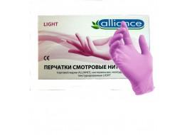 Перчатки нитриловые XS 100 шт розовые ALLIANCE