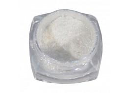 Пигмент для втирки Зеркальный блеск (арт1542165) ВЦ белый с розовыми блестками с аппликатором