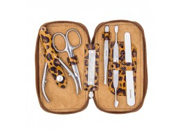 """Маникюрный набор """"Basic"""" 5 предметов МS-01 (леопард коричневый)"""